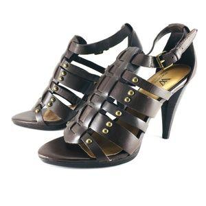 Worthington Brown Leather Upper Gladiator Heels